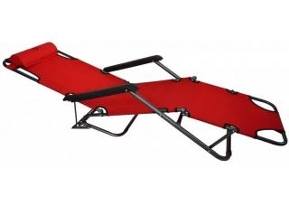 Комплект шезлонгов для дачи 153 см красный (2 шт)