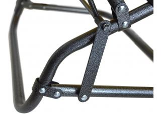 Шезлонг для дачи 178 см серый