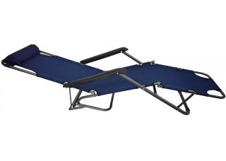 Шезлонг для дачи 178 см темно-синий