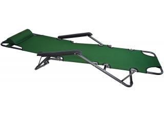 Шезлонг для дачи 178 см темно-зеленый