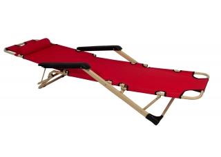 Шезлонг для дачи 180 см красный