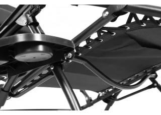 Шезлонг для дачи SP-167A черный