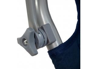 Шезлонг для дачи на колесах с крышей SP-152-4 синий