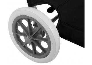 Шезлонг для дачи на колесах с крышей SP-152-4 черный