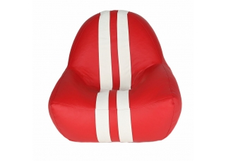Бескаркасное кресло Gamer Red-White