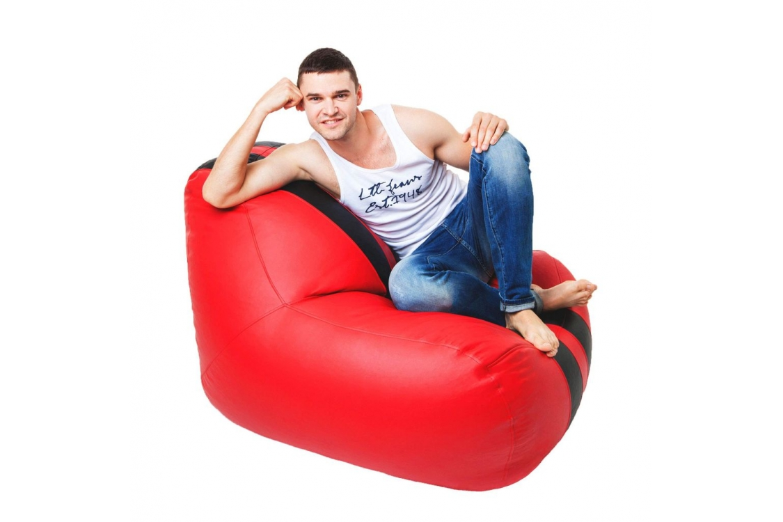 Бескаркасное кресло Gamer Red-Black