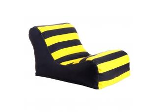 Бескаркасное кресло лежак Жан-Жак Полоски