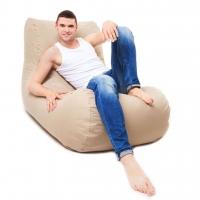Бескаркасное кресло лежак Жан-Жак Ткань