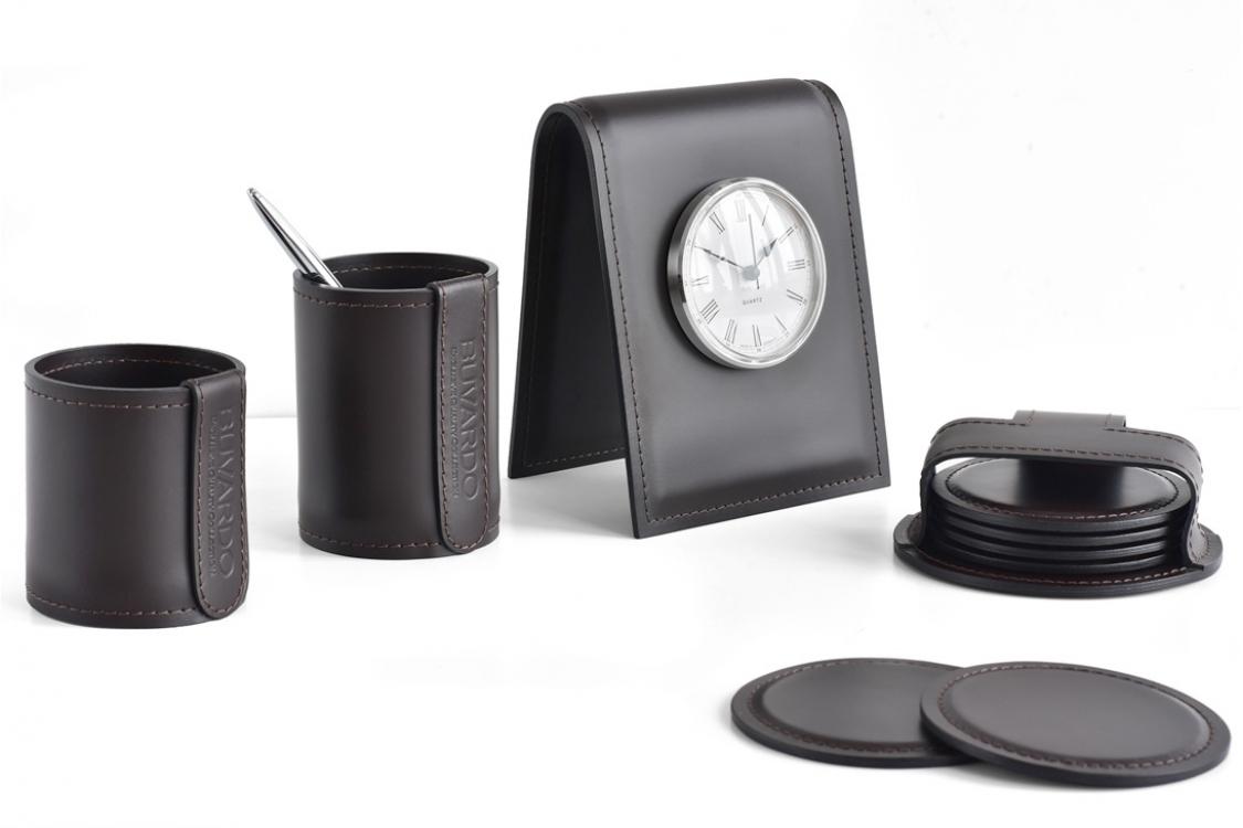 Настольный набор из кожи Cuoietto Черный 6 предметов