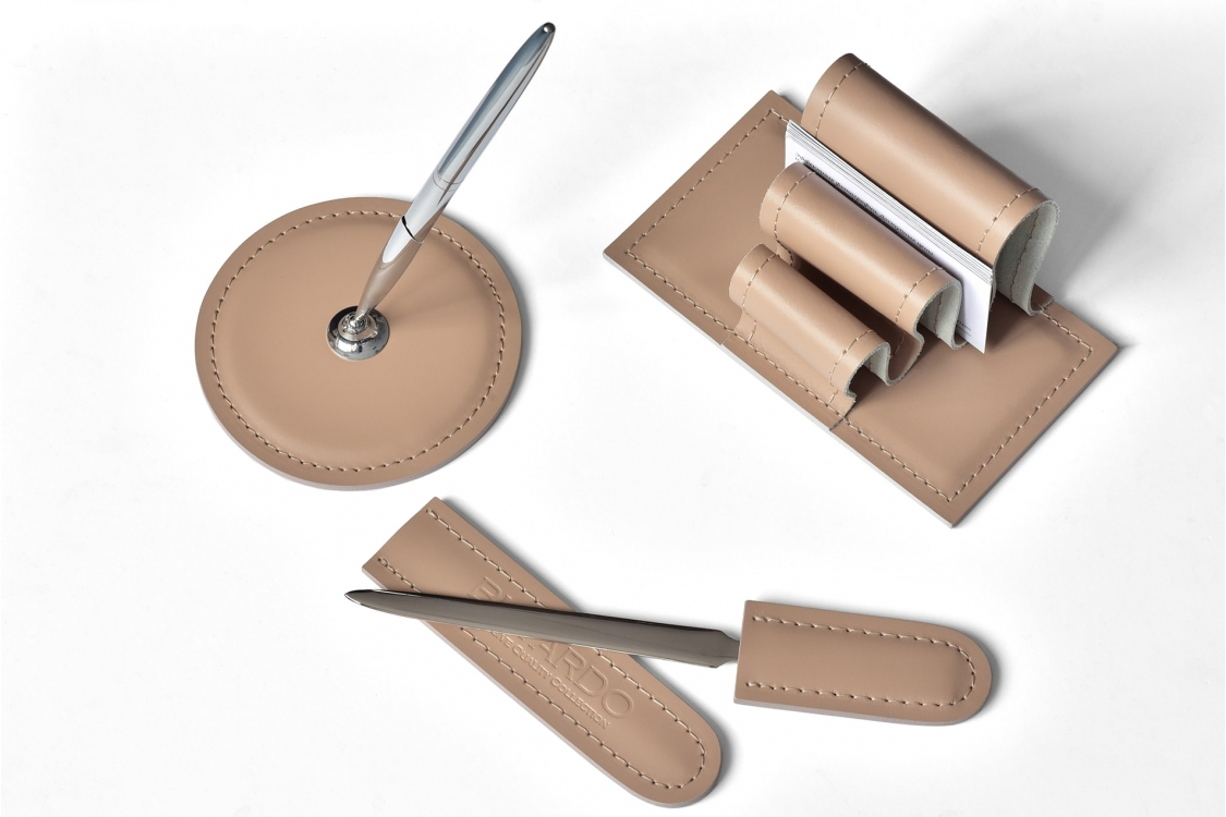 Настольный набор из кожи Cuoietto Cafe Latte 10 предметов