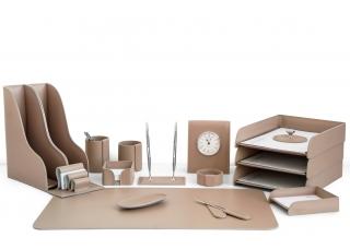 Настольный набор из кожи Cuoietto Cafe Latte 17 предметов