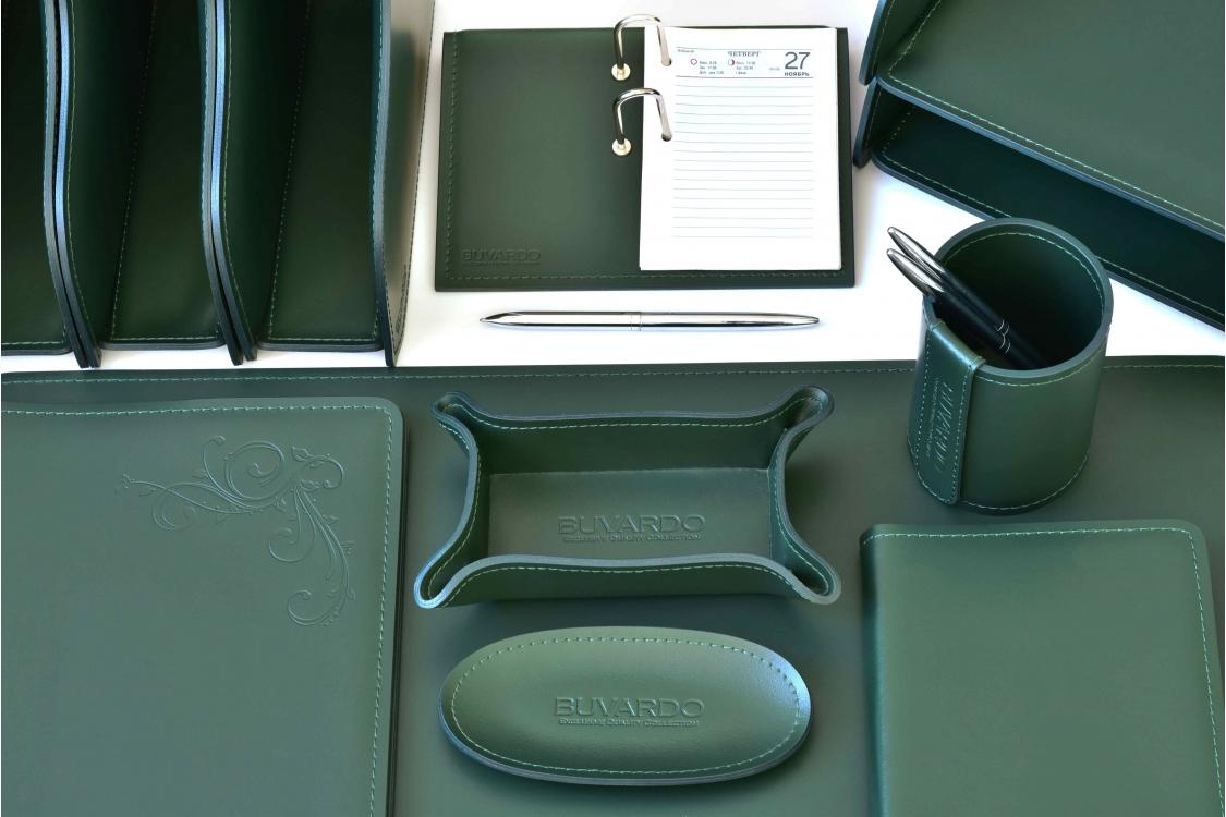 Настольный набор из кожи Cuoietto Зеленый 24 предмета
