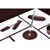 Настольный набор из кожи FG Bologna /Сuoietto Черный 9 предметов