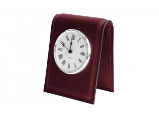 Настольные часы D103, кожа Сuoietto, цвет бордо