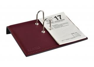 Держатель для календаря, кожа Сuoietto, цвет бордо