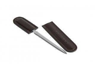 Канцелярский нож с ножнами, кожа Сuoietto, цветшоколад