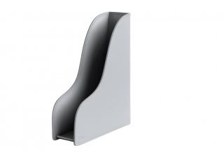 Лоток для бумаги формата А4, вертикальный, кожа Сuoietto, цветсерый