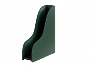 Лоток для бумаги формата А4, вертикальный, кожа Сuoietto, цветзеленый