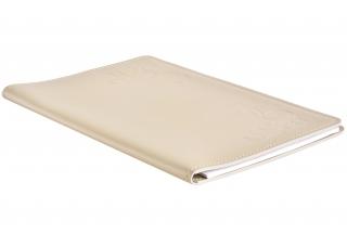 Папка под блокнот А4, кожа Сuoietto, цветслоновая кость