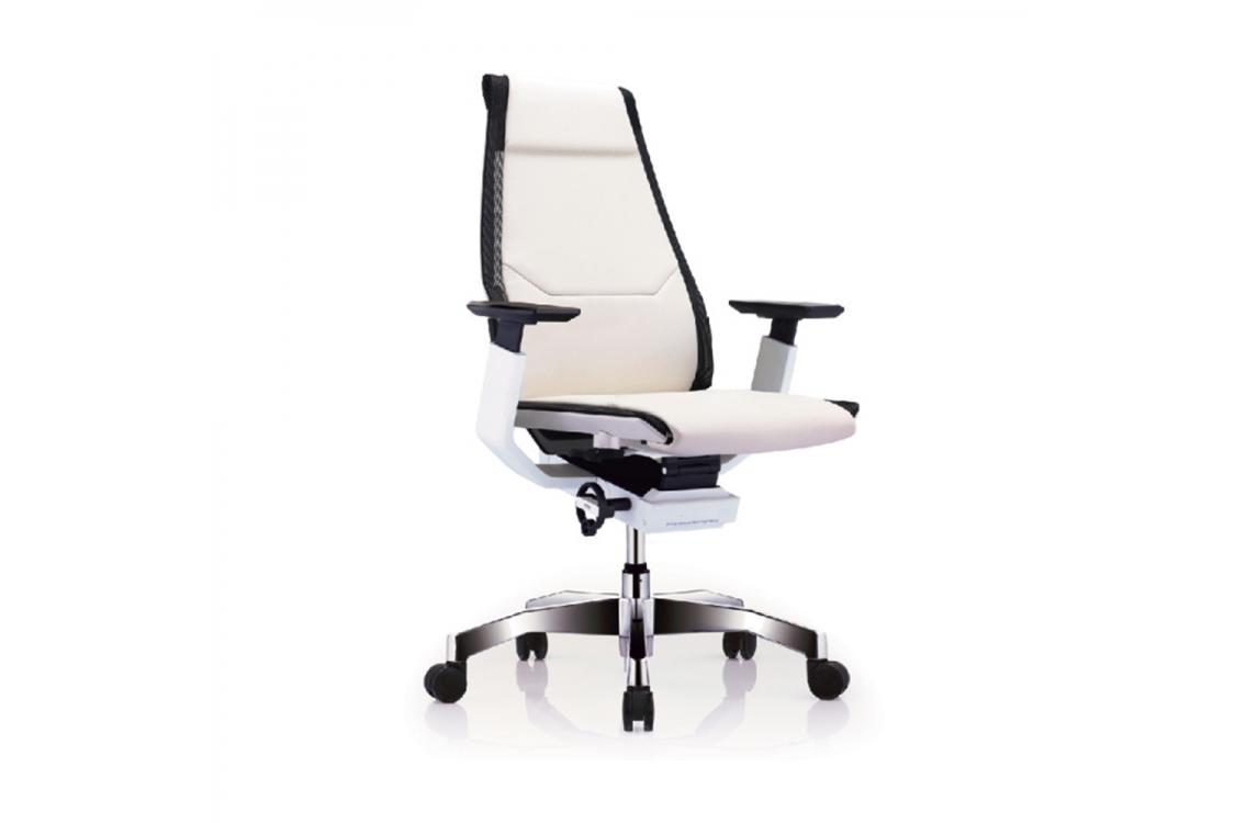 Кресло Genidia Lux White Кожа