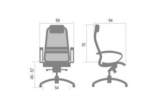 Кресло руководителя Samurai K1 Бежевое