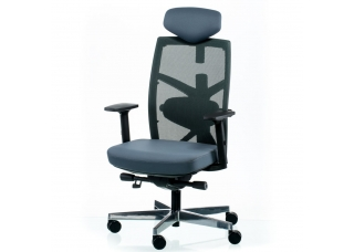 Кресло руководителя Tune slategrey-black