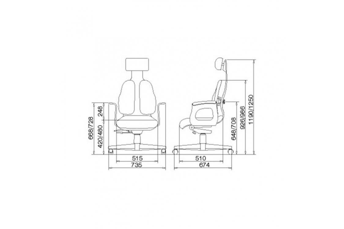 Кресло кожа Duorest Cabinet